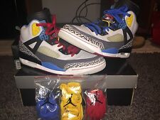 Air Jordan Retro Spizike Bordeaux Size 11 - Green/Yellow/Red/Blue/Black