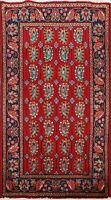 Vintage Geometric Tebriz Hand-knotted Area Rug Paisley Oriental Wool Carpet 3x5
