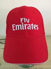 FLY EMIRATES - NWT Red Adjustable Microfiber Hat, Arsenal Soccer Football