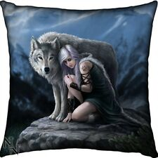 New Protector Wolf Anne Stokes Cushion from Nemesis Now With Free UK POST
