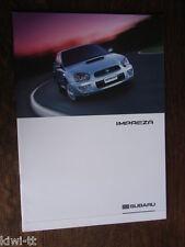 Subaru Impreza Sedan + Sport Wagon Prospekt / Brochure, Italian, 2.2003