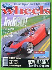 Wheels May 1996  Ford Indigo V12 Porsche 928 BMW 528i AC Ace Mitsubishi Magna