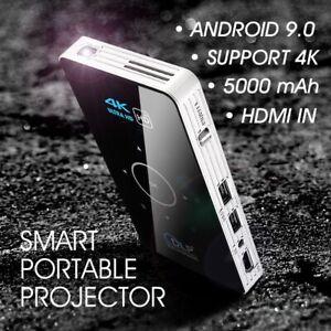 ALSTON C6 Mini DLP Projector 4K Android 9.0 WiFi Bluetooth Portable Outdoor Movi