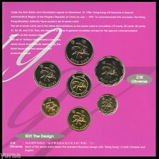 Hong Kong - Mint Set 6 Coins 1997 UNC 10, 20, 50 Cents, 1, 2, 5 Dollars