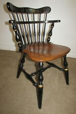 Ethan Allen Hitch Style Maple Comb Back Chair Windsor Desk Captain