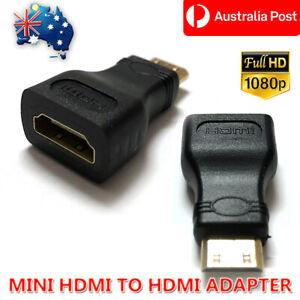 Mini HDMI Male to HDMI Female Plug Adapter Converter Connector HDTV Monitor 1080