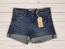 H&M LOGG Regular Fit Turn Up Indigo Blue Denim Shorts Euro Size 26 - Brand New