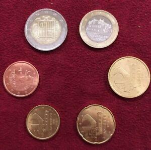 SERIE NEUVE  DE 6 PIECES D'ANDORRE 2014 DE 5 CENT A 2 EUROS