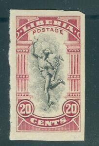 Liberia 1918 20c Mercury, IMPERFORATE #168