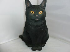 BRAND NEW SITTING BLACK CAT GARDEN ORNAMENT