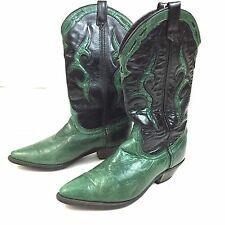 Dingo Boots Green Black Leather Western Cowgirl 7M