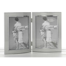 Silver Anodised Double 4x6 Frame Photo Photograph Picture Home Gift Homeware