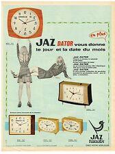 PUBLICITE  1968   JAZ DATOR  révéil horlogerie
