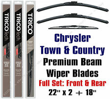 Chrysler Town & Country 1995 Wiper Blades 3-Pack Front & Rear 19220x2/30180