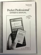 Manual for Sparcom General Chemistry Application Pac for HP 48SX/48GX Calculator