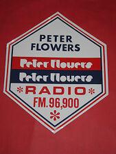 ADESIVO NUOVO ANNI 70 PETER FLOWERS RADIO