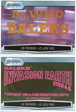 Dr Doctor Who Big Screen Dalek DVD Cards - The Dalek Collection - Full Set of 45