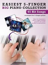Easiest 5-Finger Piano Hit Songs Play Rock Lady Gaga BEYONCE Adele Music Book