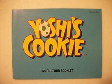 Yoshi's Cookie  - Original Nintendo NES Manual NICE!!