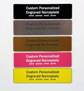Personalized Engraved nameplate fits Pelican 1430 1440 1460 1470 1490 1495 case