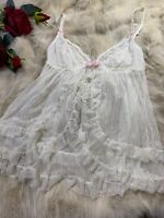 Nice white lace Camisole Top sleepwear nightwear size M