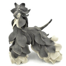Gorgeous Original Afghan Hound Dog Clay Sculpture by Marcia Van Woert