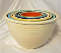 FIESTA VINTAGE  Nesting Mixing Bowls Complete Set Of 7, #1 Thru #7 Multicolor