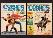COMICS REVUE #25 #31 Comic Strip Reprints FLASH GORDON Latigo POPEYE Hagar 1988
