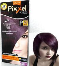 Lolane Pixxel Hair Permanent Dye Color Cream various colors # P40 Burgundy