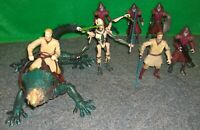 Star Wars OBI WAN with UTAPAU BOGA, GENERAL GRIEVOUS + UTAPAUN WARRIOR Lot -Used
