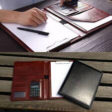 PU Leather Business A4 Document Organiser Conference Portfolio Folder Calculator