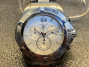 Tag Heuer Stainless Steel Aquaracer Quartz Chronograph Watch CAF101F