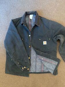 Carhartt Mens Firm Duck Chore Cotton Work Jacket Coat medium