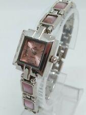 VINTAGE Denacci HT1529 Womens 19mm Square Silver Tone Bracelet Watch NEW BATTERY