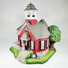 PartyLite Olde World Village Tea Light House #5 School House Exclusive