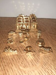 Franklin Mint Monopoly Collectors Edition 1991 Gold & 20 Game Pieces