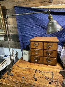 VTG Industrial RARE EARLY Dazor Floating Fixture Industrial WALL MOUNT Lamp