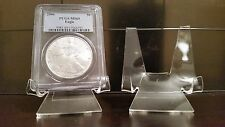 """3 Premium 1-3/4"""" Display Stand Easel Coins Graded in PCGS NGC Air-Tite Capsules"""