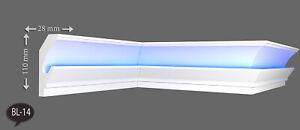 18 Meter Indirekte Beleuchtung LED Lichtprofile Wand Stuck Leiste Profil BL14