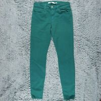 Joes Jeans The Skinny Mid Rise Teal Green Jeans Womens Sz 27