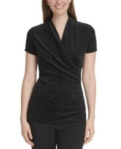 MSRP $59 Dkny Petite Velvet Side-Ruched Top Size Petite Small
