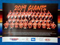 ✺New✺ 2019 GWS GIANTS AFL AFLW Poster - 42cm x 29.5cm