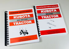 KUBOTA B6200D 4WD TRACTOR SERVICE REPAIR MANUAL PARTS CATALOG SHOP SET OVHL
