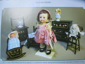10pg Pennsylvania Dutch Doll Furniture History Article 1950-60's / Gluski