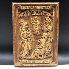 GERMANY WANDERTAG AWARD vintage wood carving Temple Jesus Christ creglingen Mary