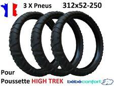 3 X Pneus 312x52-250 pour poussette HIGH TREK de Bébé confort 312 x 52 - 250