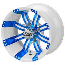"12"" Casino White/Blue Golf Cart Wheel"