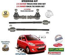 für Hyundai i10 2008> 2 x Außen + 2 x innere Spurstange Spurstangen-Kopf Satz