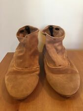 Alberto Fasciani Tan Suede Ankle Boots Made in Italy - Sz 38.5