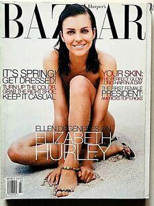 Harper's Bazaar USA march 1998 marzo Elizabeth Hurley Ellen Degeneres Tadao Ando